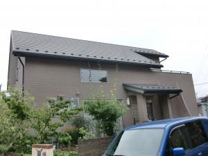 平屋建て風な2階建て住宅